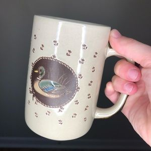Hand Painted Large Duck Mug